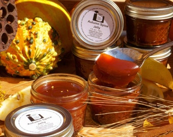 Autumn Spice Jelly  4 oz Delicious Vegan Food Gift We've elevated Pumpkin Spice to new heights. Perfect holiday care package food gift.