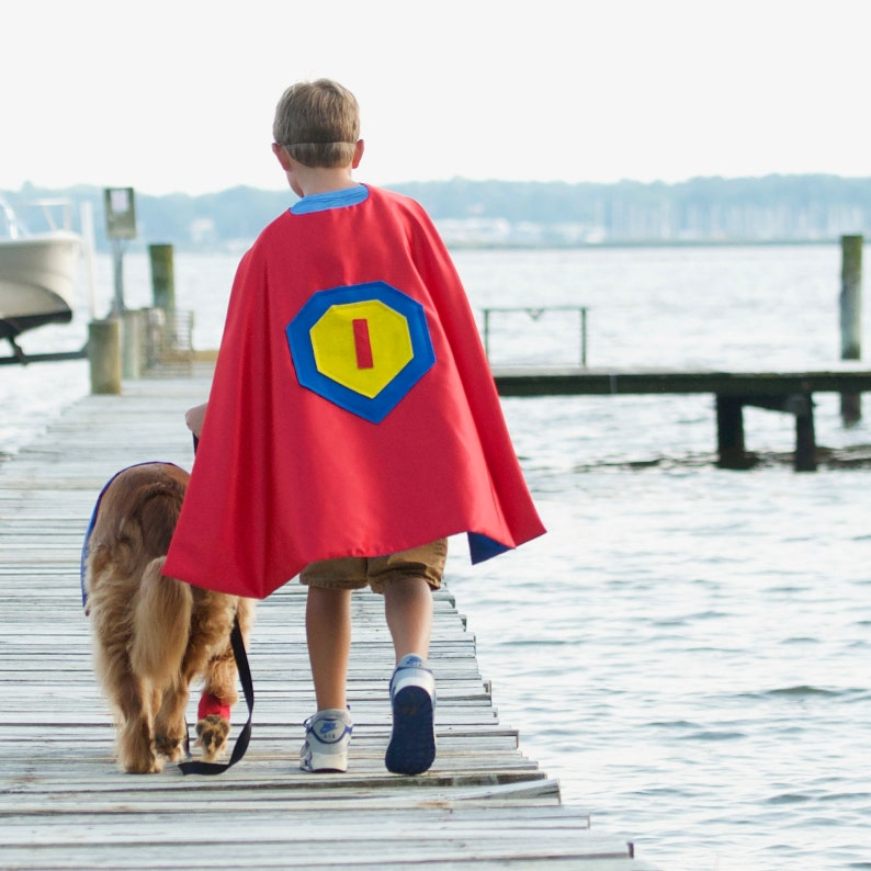 Personalized Cape for Super Hero Kids in Red