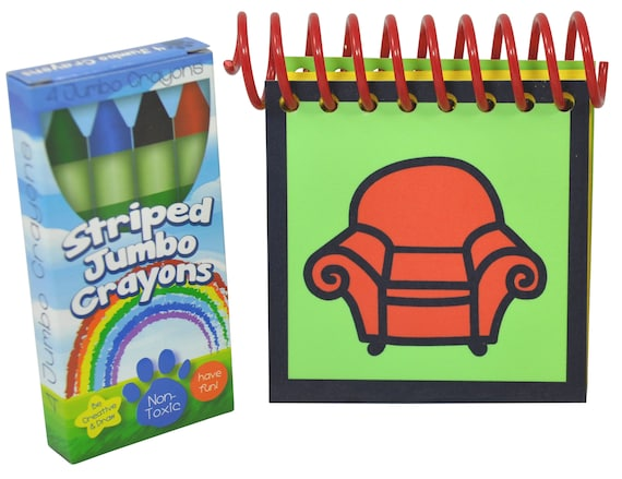 blue s clues handy dandy notebook with box of 4 crayons etsy