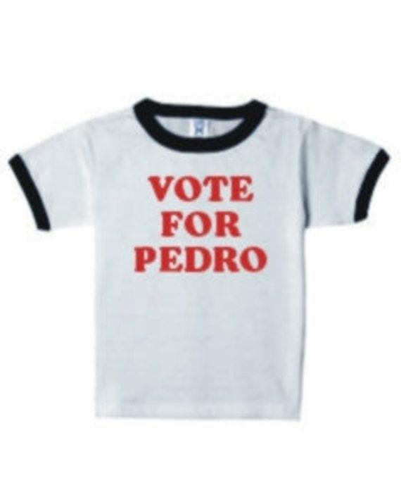 Baby Bib Vote For Pedro funny dynamite