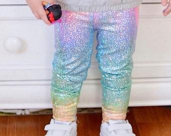 Unicorn leggings Girls Baby Toddler Rainbow Birthday pants 3 6 12 18 24 months 2T 3T 4T 5T 6 7 costume Dragon Scale pink purple blue yellow