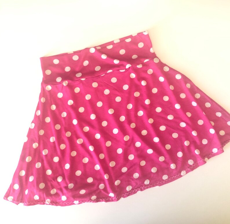 1232ec497 Minnie Mouse Skirt pink and white polka dot twirl girls 6 9 12 | Etsy