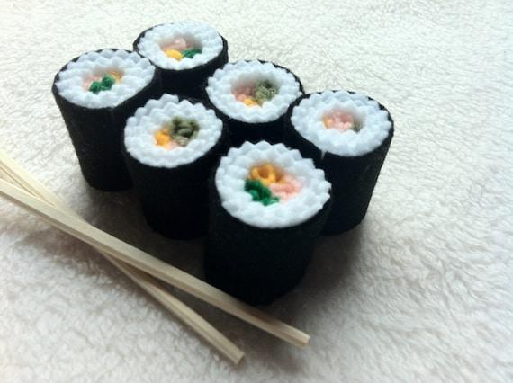 Felt Food Toys R Us : Sushi roll felt play pretend food kids toy kitchen accessories