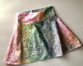 Rainbow Unicorn skirt twirl circle skirt Girls Tie Dye Birthday 6 12 18 24 months 2T 3T 4T 5T 5 6 7 8 10 12 costume