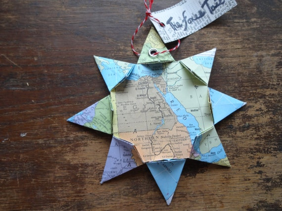 Egypt Origami Map Ornament Home Decor Wall Art Road Map Etsy