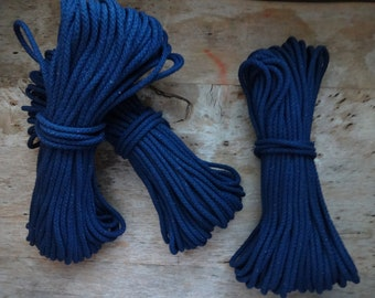 Navy! 100 ft American Made Cotton Rope, Diamond Braid, Soft Core, Clothesline, 7/32, DIY, Rope Bowl, Rope Coaster, Cording, USA Made, Cord