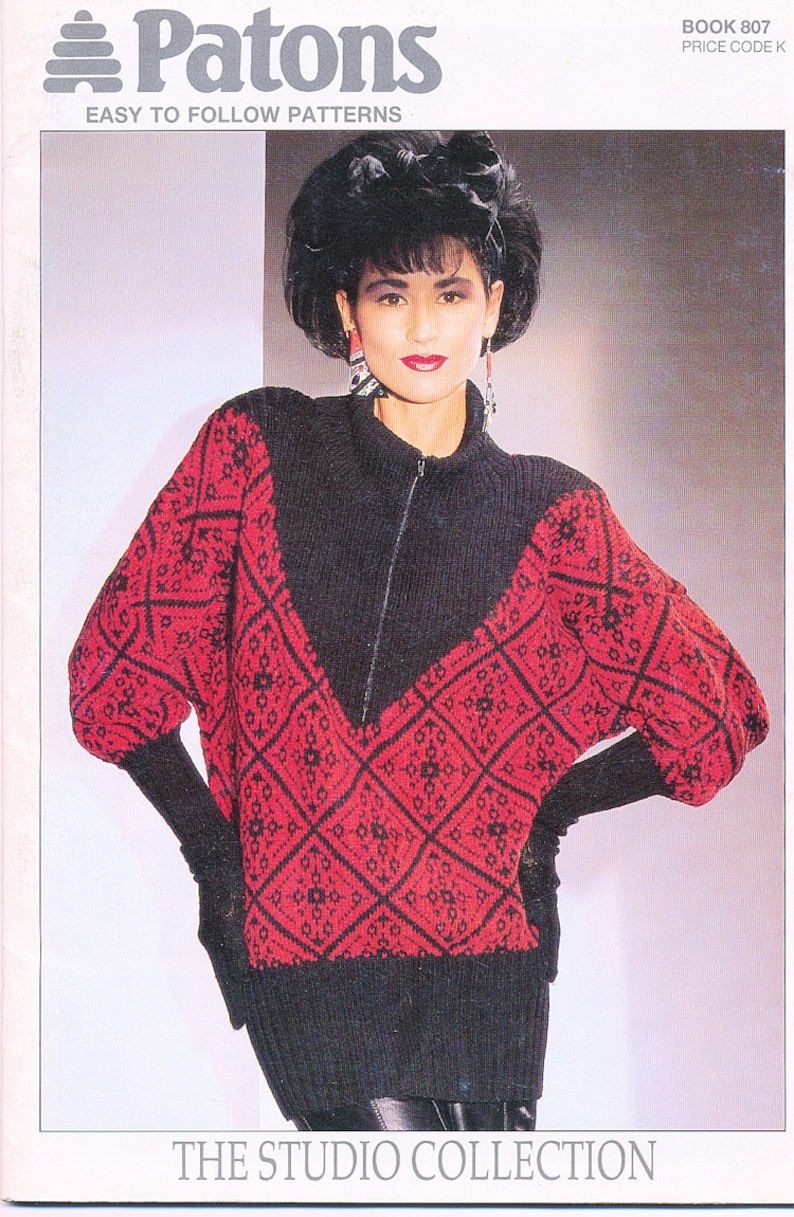 Vintage Patons Easy To Follow Knitting Patterns Bk 807 The Etsy