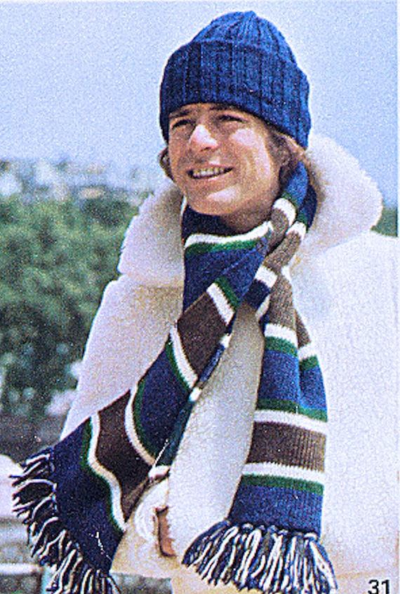 Skifahrer-Hut und passendem Schal stricken für PDF-File