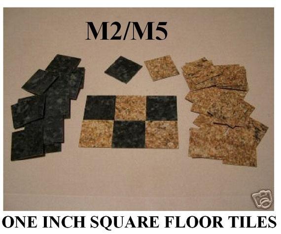DOLLHOUSE MINIATURES,FLOORING MINIATURE FLOOR TILES,HALF INCH SQUARE,SF5 M1//M4