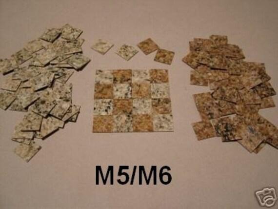 MINIATURE FLOOR TILES,HALF INCH SQUARE,SF5 M5//M7 DOLLHOUSE MINIATURES,FLOORING