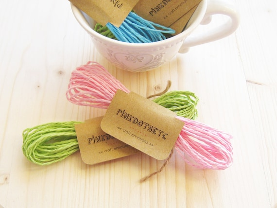 Colored Paper Twist Rope Pink Paper Cord Light Pink 5 Mt Gift