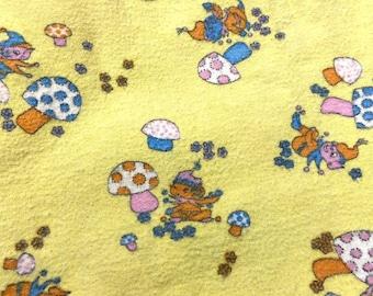 Elf Retro Iron on Patches Patch Fairy Art Mushrooms Vintage Baby Fabric DIY Boy