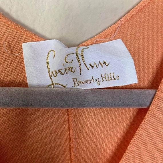 Vintage Lucie Ann Beverly Hills Womens Orange V N… - image 3
