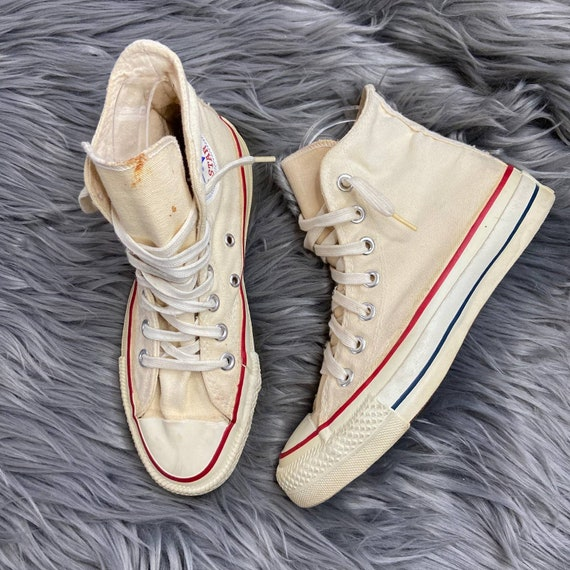 Vintage Converse Size 3.5 Off White Canvas Made In