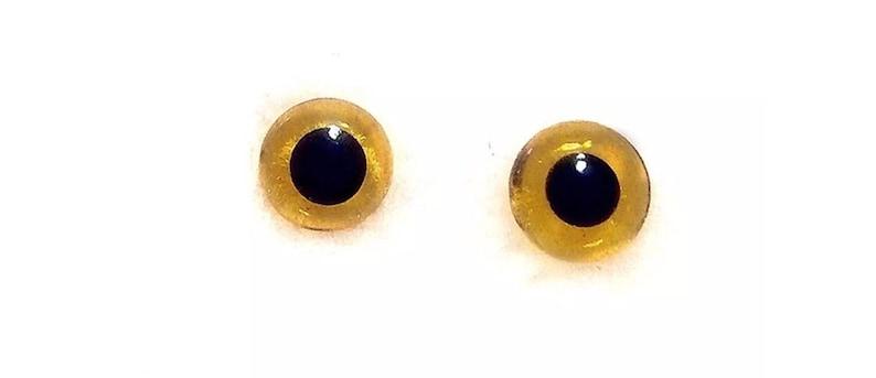 20 Tiny Amber glass eyes for needle felting animals