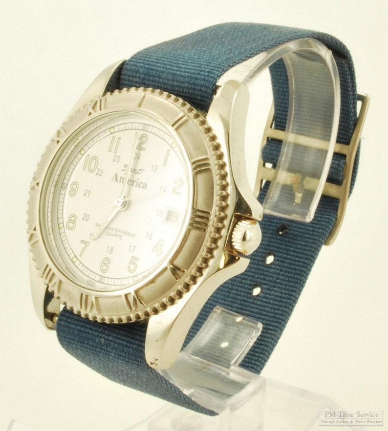 Sport America quartz wrist watch with date heavy image 0