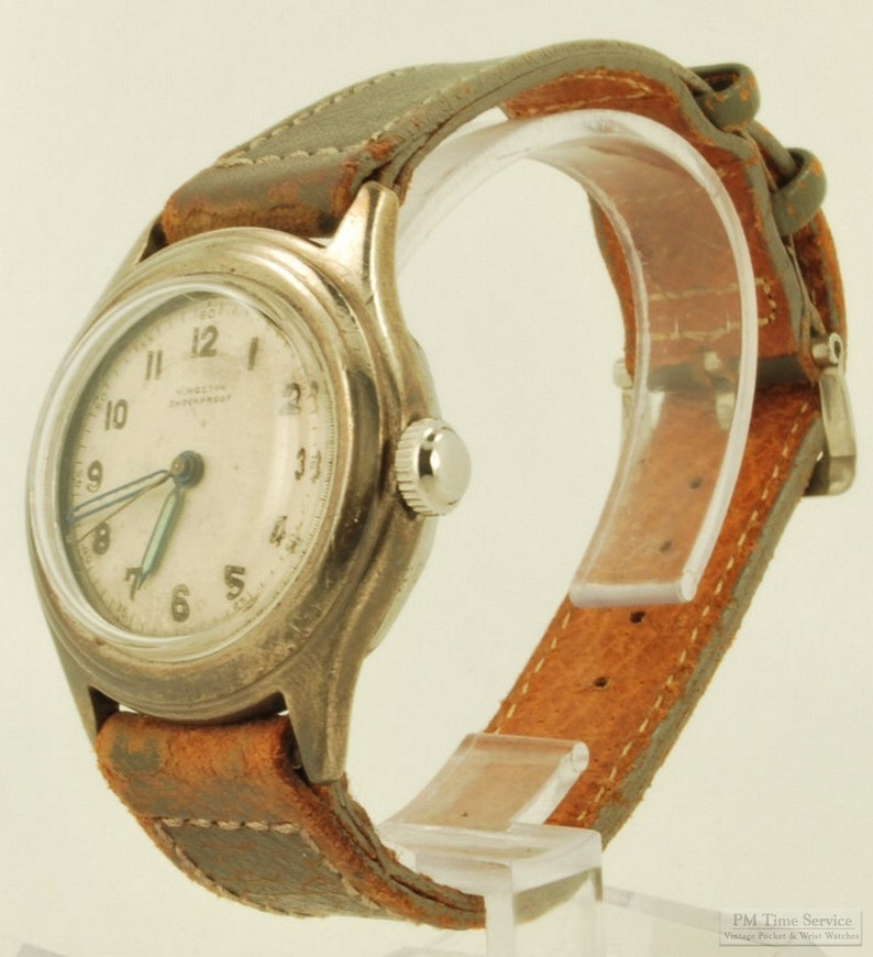 Kingston vintage wrist watch 15 jewels solid silver round image 0