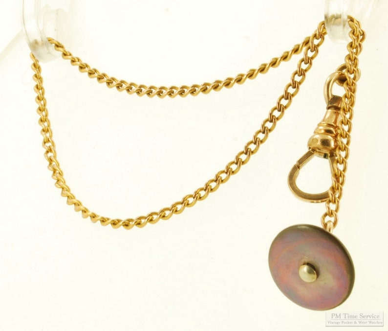 9 small curb link yellow gold filled straight style image 0