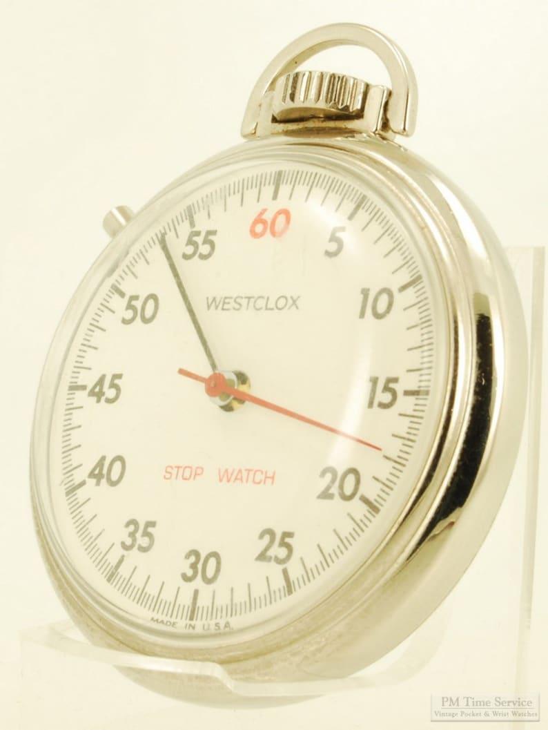 Westclox dollar watch vintage stopwatch 16 size image 0