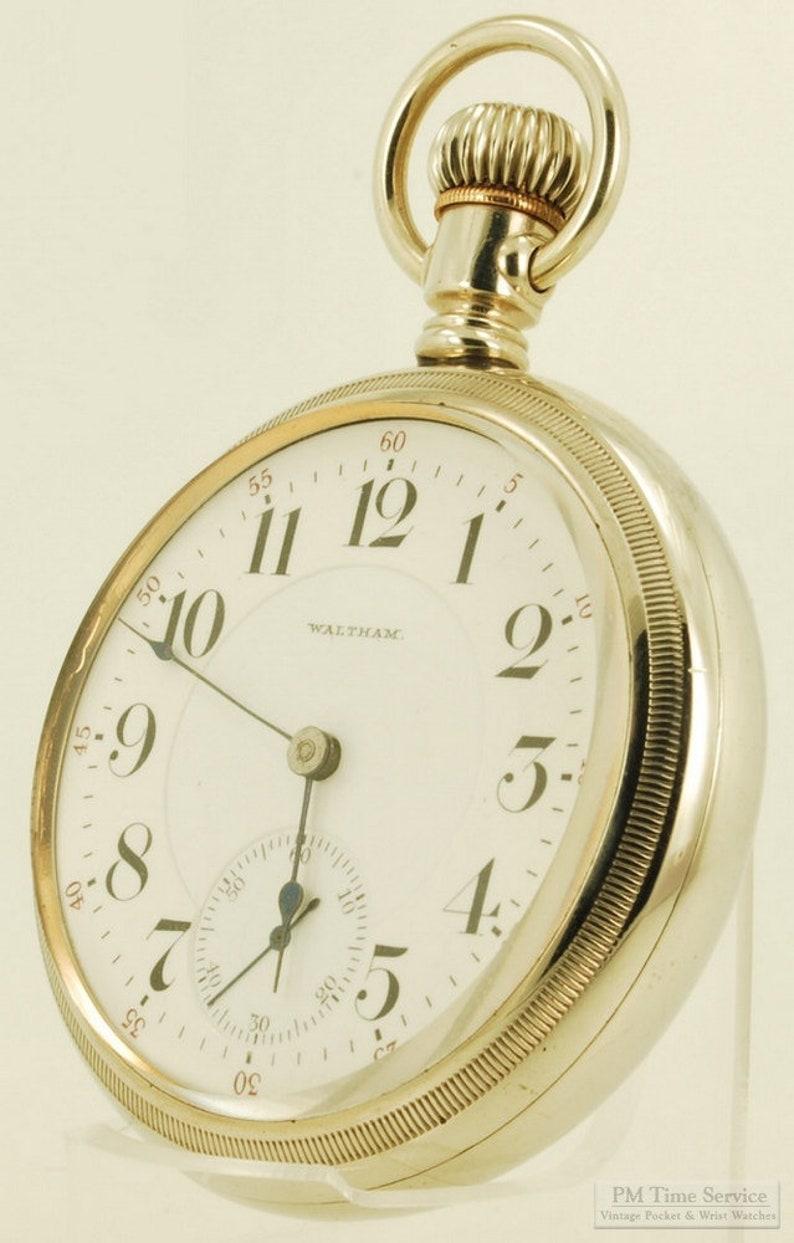 Waltham Vanguard vintage pocket watch 18 size 23 image 0