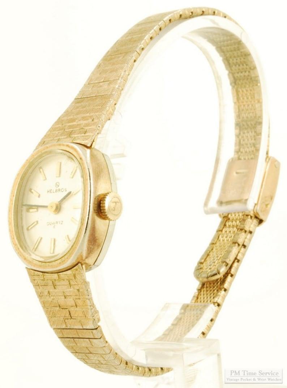 Helbros quartz ladies' wrist watch elegant gold-toned & image 0