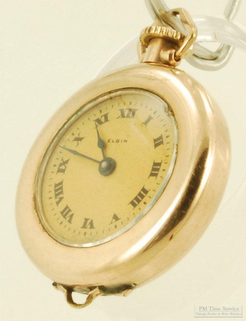 Elgin grade 447 vintage ladies' pocket or pendant watch image 0