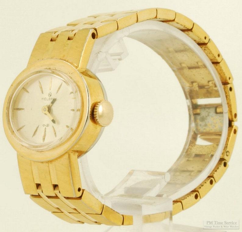Helbros vintage ladies' wrist watch 15 jewels heavy image 0