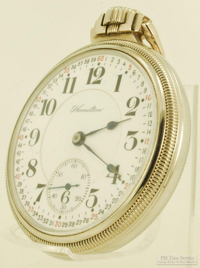 Hamilton grade 992 vintage pocket watch 16 size 21 jewels image 0