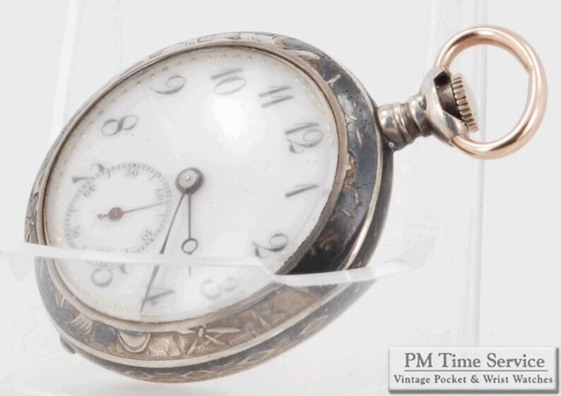 Swiss vintage ladies pocket watch 25mm 3-OS movement 15 image 0