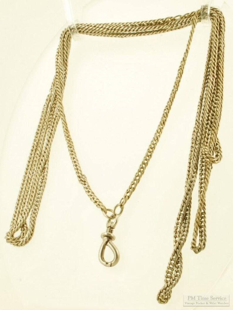 28 silver vintage ladies' chain necklace image 0