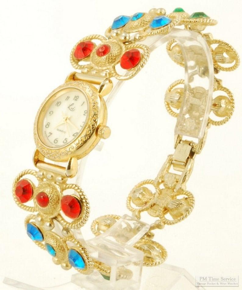 Lize quartz ladies' wrist watch gold-toned & stainless image 0