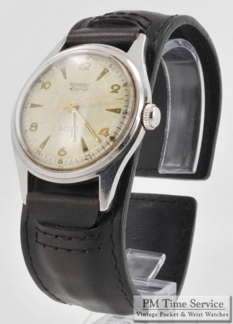 Kimberly vintage wrist watch 17 jewels heavy stainless steel image 0