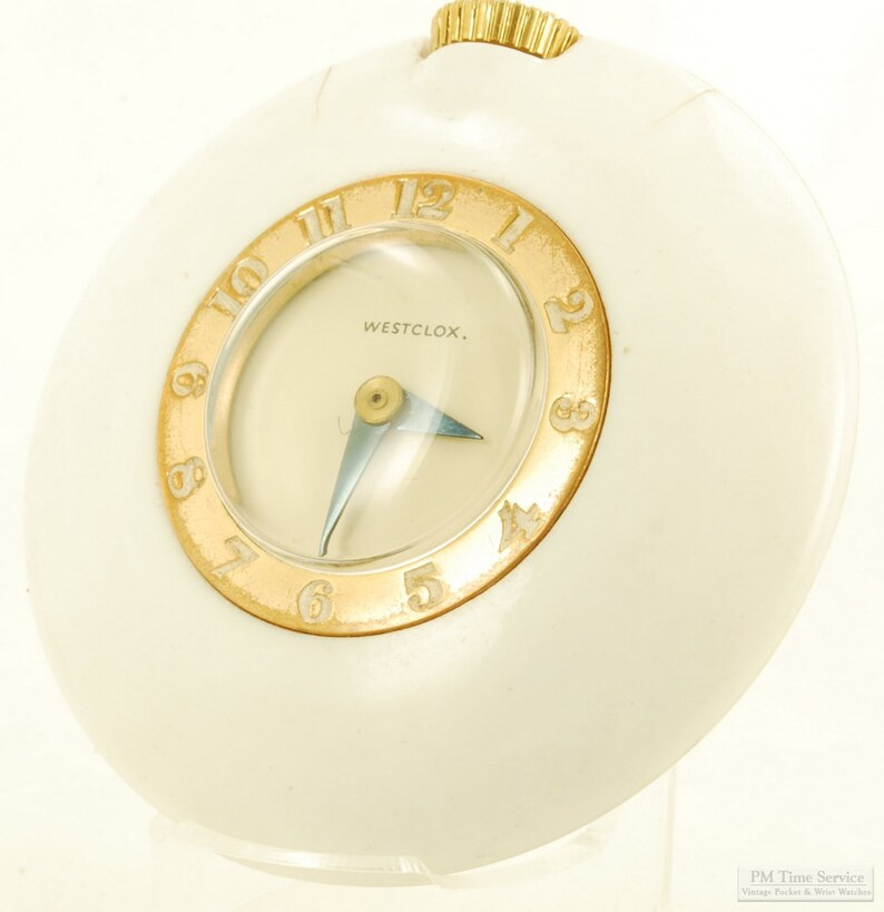 Westclox vintage ladies' purse watch 1 jewel distinctive image 0