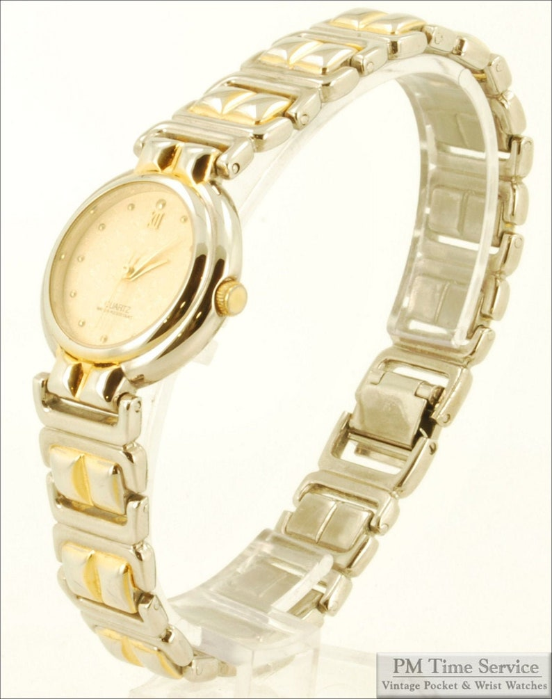 Japanese-movement quartz ladies vintage wrist watch heavy image 0