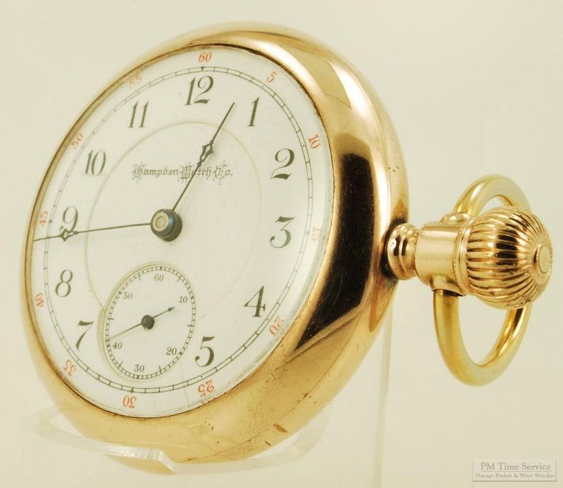 Hampden Special vintage pocket watch 18 size 17 jewels image 0