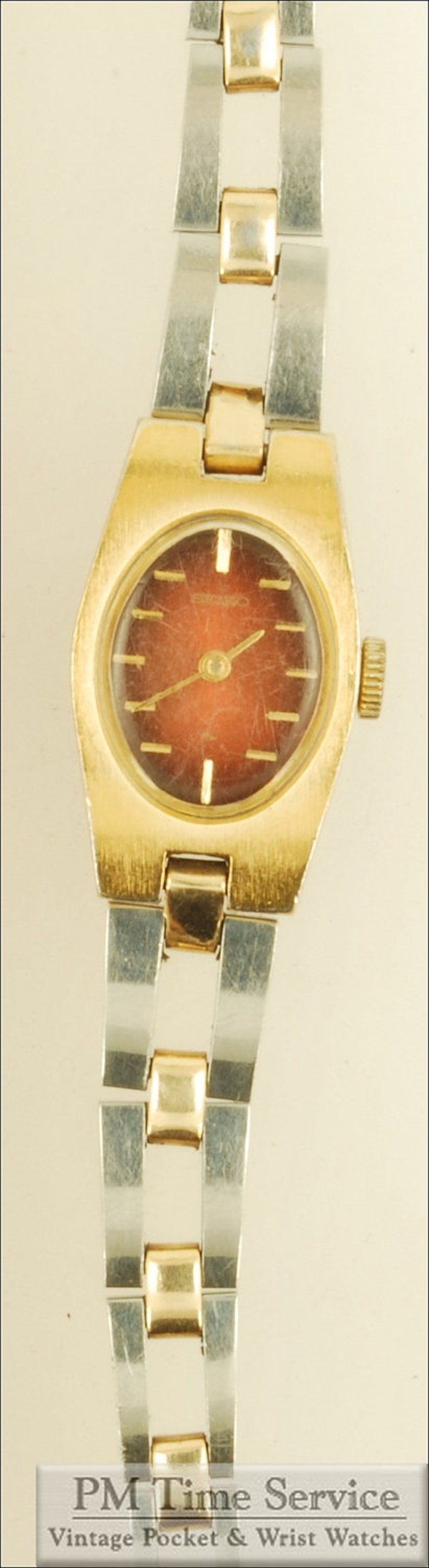 Seiko vintage ladies' wrist watch 17 jewels gold-toned & image 0