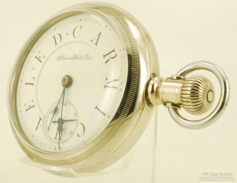 Illinois transitional model vintage pocket watch 18 size 7 image 0