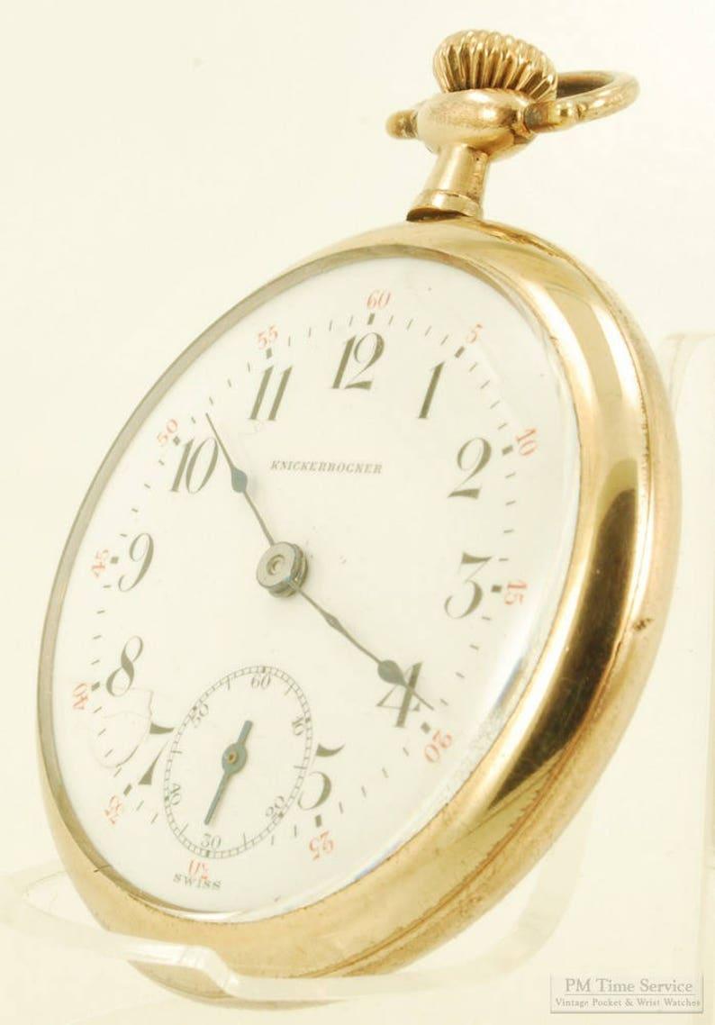 b782d525b Knickerbocker Juillard vintage pocket watch 16 | Etsy