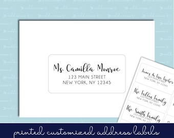 guest address labels etsy