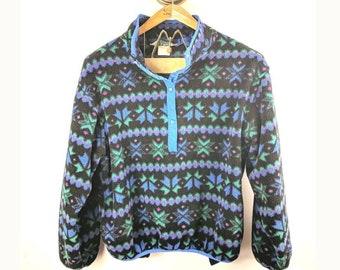 Vintage LL Bean Fleece Pullover Sweatshirt Has Flaws 7f0111793