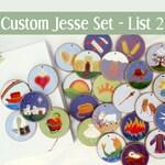 Custom - Jesse Tree Ornaments - Often ordered List 2 for Advent  - Christian Advent Calendar leading to Christmas