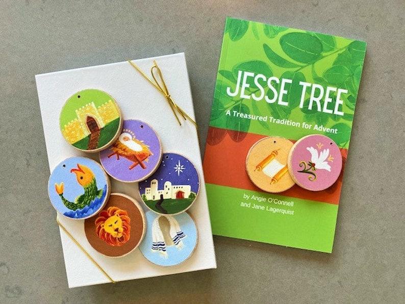 Advent Jesse Tree Book 6x9 & Ornaments Storybook Set   READY image 0