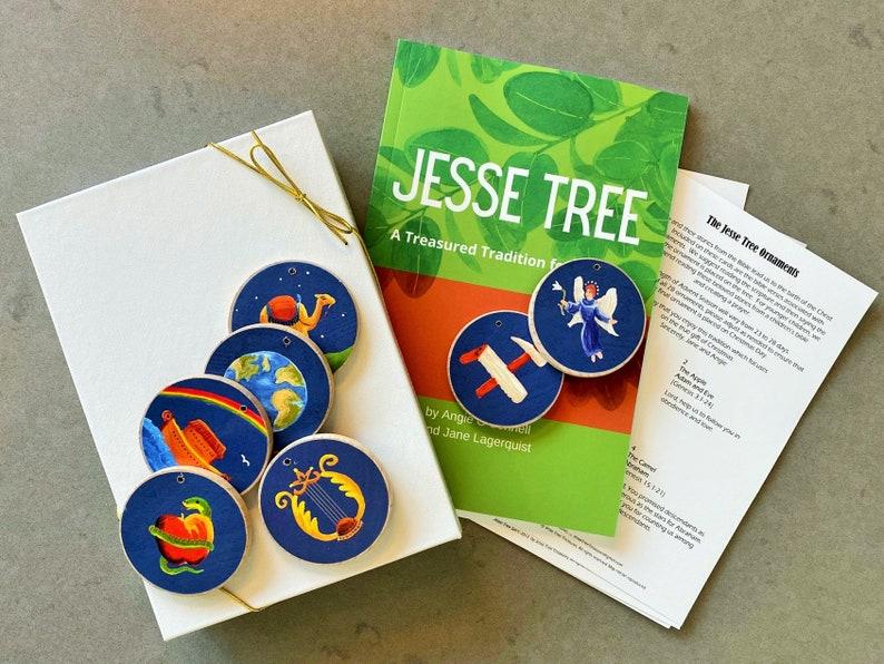 Advent Jesse Tree Book 6x9 & Blue Ornaments Storybook Set   image 0