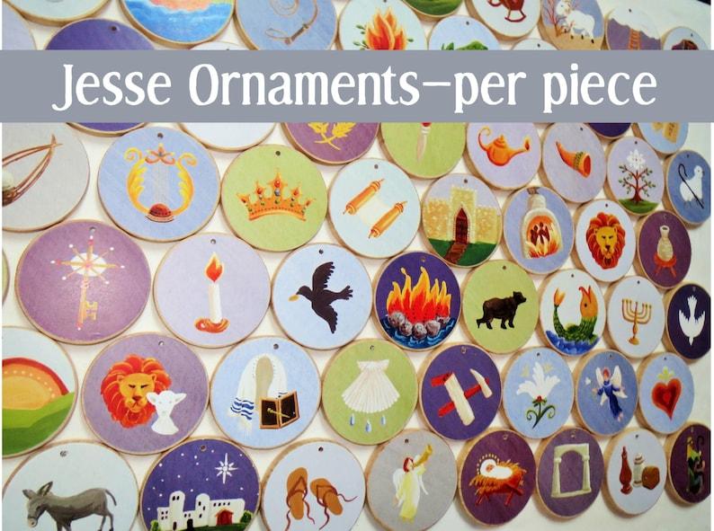 Advent Individual Jesse Tree Ornaments  Multi-colored per image 0