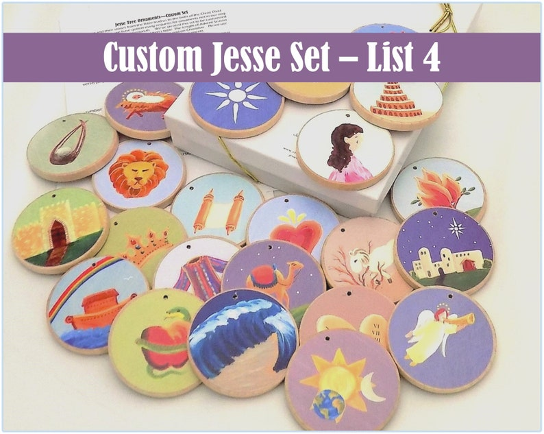 Jesse Tree Ornaments  Often ordered List 4  Christian Advent image 0