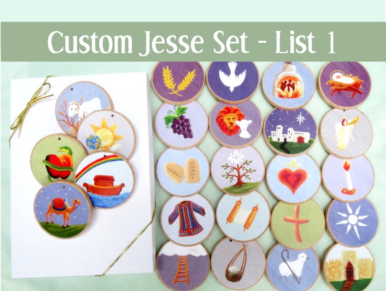 Jesse Tree Ornaments  set to coordinate with The Advent Jesse image 0