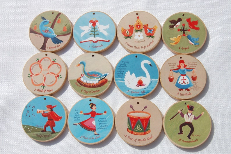 12 Days of CHRISTmas Ornaments for Advent and Christmas   image 0