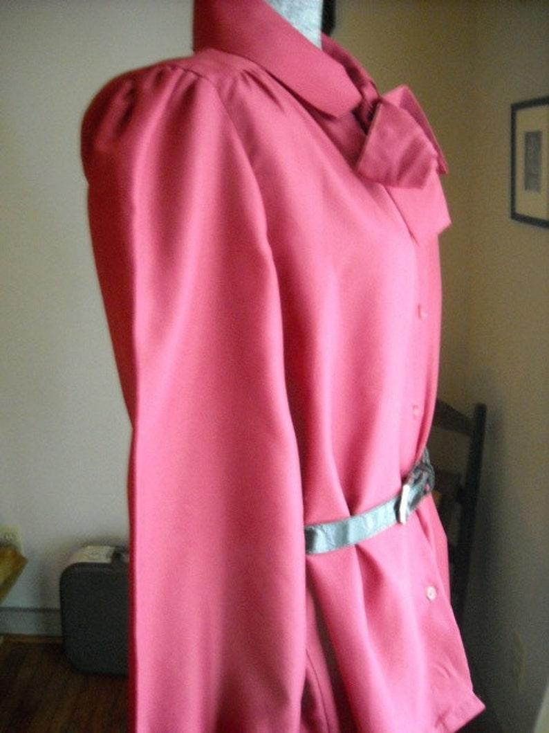 Secretary Blouse Cranberry Berry Necktie Sears The Fashion Place Size 14