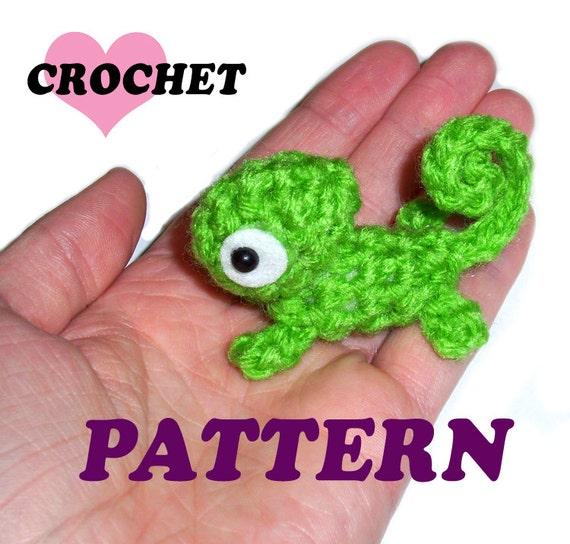 Crochet Pattern Mini Green Chameleon Plushie English Only Etsy
