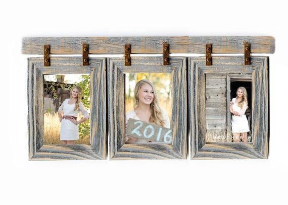 2 Barnwood Collage Frame 3 8x10 Multi Opening Etsy